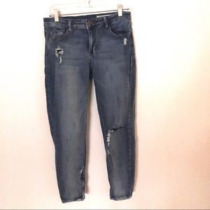 Pistola Tory distressed ankle zip skinny jeans 29